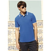 Fruit Of The Loom Mens Tipped Polo