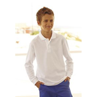Fruit Of The Loom Kids Long Sleeve Polo