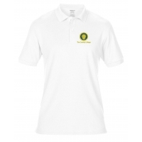 polo shirt (white) - embroidered