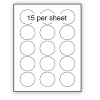 51mm diameter paper stickers