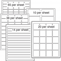 Paper labels / stickers by the sheet (non-stock)