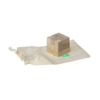 Wooden puzzle in pouch: Cube Puzzle